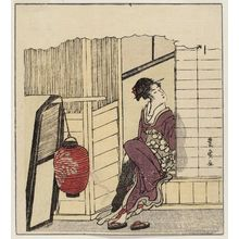 歌川豊広: Setting Forth, from an untitled series of a day in the life of a geisha - ボストン美術館