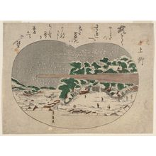 Utagawa Toyohiro: Ueno, from an untitled series of Views of Edo in Snow - Museum of Fine Arts