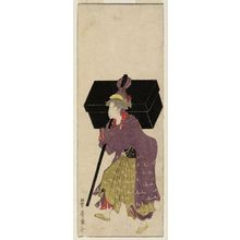 Utagawa Toyohiro: No. 1 (from left), from an untitled series of Women Imitating a Daimyô Procession - Museum of Fine Arts