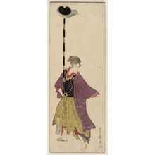 歌川豊広: No. 4 (from left), from an untitled series of Women Imitating a Daimyô Procession - ボストン美術館