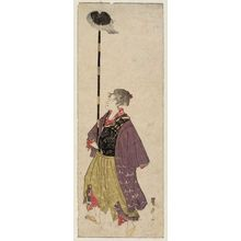 歌川豊広: No. 5 (from left), from an untitled series of Women Imitating a Daimyô Procession - ボストン美術館