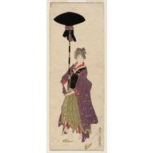 歌川豊広: No. 6 (from left), from an untitled series of Women Imitating a Daimyô Procession - ボストン美術館