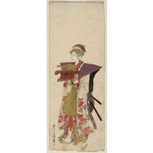 歌川豊広: No. 13 (from left), from an untitled series of Women Imitating a Daimyô Procession - ボストン美術館