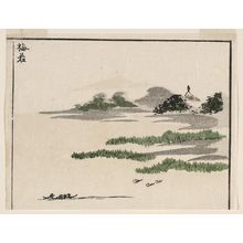 北尾政美: Umewaka, cut from a page of the book Sansui ryakuga shiki (Landscape Sketches) - ボストン美術館