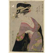 Kitagawa Utamaro: Ôi of the Ebiya, from the series Selections from Six Houses of the Yoshiwara (Seirô rokkasen) - Museum of Fine Arts