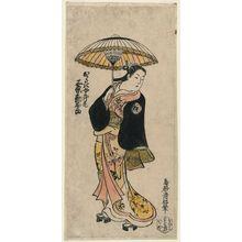 鳥居清倍: Actor Sanjo Kantarô II as Okazaki Joroshu - ボストン美術館