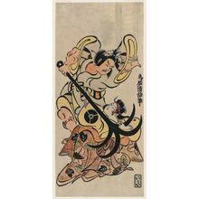鳥居清倍: Actors Sakata Hangorô I and Tamazawa Rinya - ボストン美術館