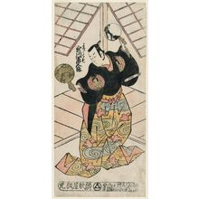 鳥居清倍: Actor Utagawa Shirogoro as Yoritomo - ボストン美術館