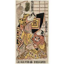 Torii Kiyomasu II: Actors Ichikawa Danjûrô and Segawa Kikujirô - Museum of Fine Arts