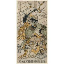 鳥居清倍: Actors Sanjô Kantarô II and Sanogawa Mangiku - ボストン美術館