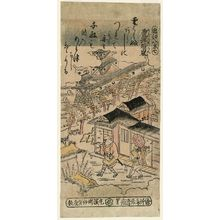 鳥居清倍: Clearing Weather at Awazu (Awazu no seiran), No. 7 from the series Eight Views of Ômi (Ômi hakkei) - ボストン美術館