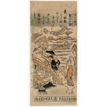 Torii Kiyomasu II: Sunset Glow at Seta, No. 8 (Seta no sekishô, hachi), from the series Eight Views of Ômi (Ômi hakkei) - Museum of Fine Arts