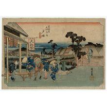 Utagawa Hiroshige: Totsuka: Motomachi Fork (Totsuka, Motomachi betsudô), from the series Fifty-three Stations of the Tôkaidô Road (Tôkaidô gojûsan tsugi no uchi), also known as the First Tôkaidô or Great Tôkaidô - Museum of Fine Arts