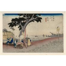 Utagawa Hiroshige: Fukuroi: Tea Stall (Fukuroi, dejaya no zu), from the series Fifty-three Stations of the Tôkaidô (Tôkaidô gojûsan tsugi no uchi), also known as the First Tôkaidô or Great Tôkaidô - Museum of Fine Arts