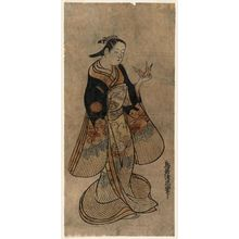 鳥居清忠: Woman Holding an Origami Crane - ボストン美術館
