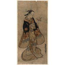 Torii Kiyotada I: Woman Holding an Origami Crane - Museum of Fine Arts