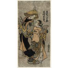 Torii Kiyotada I: Actors Sanogawa Mangiku as Imagawa and Fujimura Handayû - Museum of Fine Arts