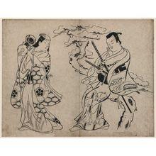 Okumura Masanobu: Actors Takii Hannosuke and Miyazaki Denkichi? - Museum of Fine Arts
