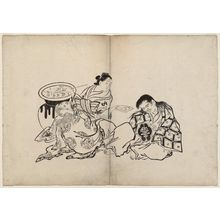 奥村政信: An Oiran Plying Two Shojo With Sake - ボストン美術館