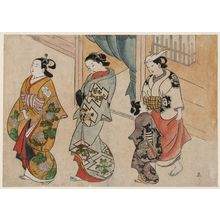 Okumura Masanobu: Street Scene in the Yoshiwara - Museum of Fine Arts