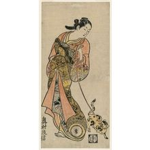 Okumura Masanobu: Courtesan with Cat on Leash - Museum of Fine Arts