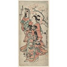 Okumura Masanobu: The Spring Pony Dance (Harugoma odori) - Museum of Fine Arts