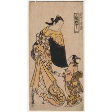 Nishimura Shigenaga: Moon of Musashi Province, Center Sheet of a Triptych (Musashi no tsuki, sanpukutsui chû) - Museum of Fine Arts
