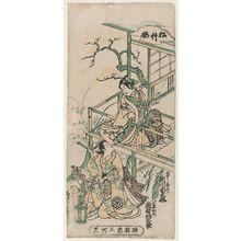 Nishimura Shigenaga: Actors Segawa Kikunojô as Koshô Kichisaburô and Ogino Isaburô as Oshichi - Museum of Fine Arts