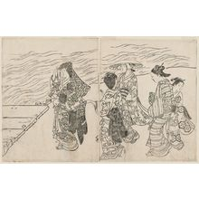 西川祐信: Ehon Tokiwa Gusa At the Water Side - ボストン美術館