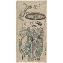 石川豊信: The Lovers Osome and Hisamatsu - ボストン美術館