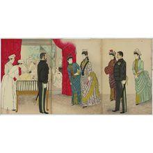 小林清親: Visit of the Empress to the Field Hospital [in Hiroshima] (Yasen byôin gyôkô no zu) - ボストン美術館