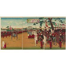 Utagawa Kuniyasu: The Emperor Reviewing the Troops (Kanpeishiki miyuki zu) - Museum of Fine Arts