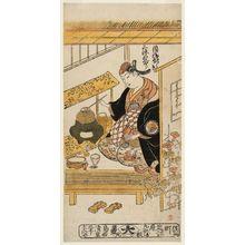 Torii Kiyoshige: Actor Sanjô Kantarô II as the Courtesan Katsuragi (Keisei Katsuragi) - Museum of Fine Arts