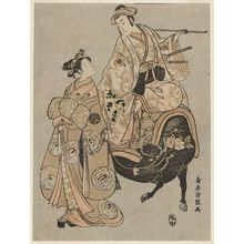 Torii Kiyotsune: Actors Onoe Kikugorô as Kudô Suketsune and Segawa Kikunojô II as the Courtesan Maizuru - Museum of Fine Arts
