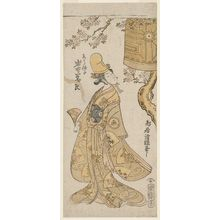 Torii Kiyotsune: Actor Iwai Hanshiro IV as a Shirabyôshi Dancer - Museum of Fine Arts