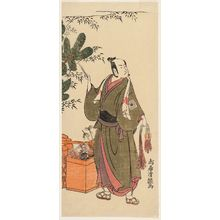 鳥居清経: Actor Ichikawa Yaozô II as a Peddler at New Year - ボストン美術館