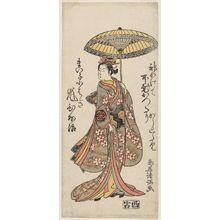 Torii Kiyomitsu: Actor Arashi Hinaji as the Maiko Kohagi - Museum of Fine Arts