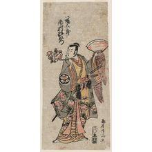 鳥居清満: Actor Ichimura Uzaemon as Hachimantarô (Minamoto Hachimantarô Yoshiie) - ボストン美術館