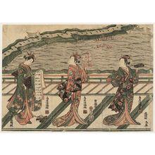 Torii Kiyomitsu: Actors Yoshizawa Gorôichi (R), Segawa Kikunojô II (C), and Nakamura Matsue (L) - Museum of Fine Arts
