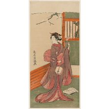 Torii Kiyomitsu: Actor as a Woman Tuning a Shamisen - Museum of Fine Arts