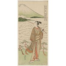 Suzuki Harunobu: Descending Geese of Hagoromo (Hagoromo no rakugan), from the series Fashionable Eight Views of Nô Plays (Fûryû utai hakkei) - Museum of Fine Arts