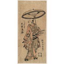 Suzuki Harunobu: Actor Ôtani Hiroji III as Okabe no Rokumita - Museum of Fine Arts