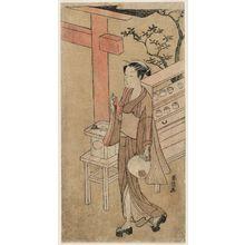 Suzuki Harunobu: Osen of the Kagiya in Summer Clothing - Museum of Fine Arts