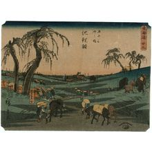 Utagawa Hiroshige: No. 39 - Chiryû: Early Summer Horse Fair (Shuka uma ichi), from the series The Tôkaidô Road - The Fifty-three Stations (Tôkaidô - Gojûsan tsugi no uchi) - Museum of Fine Arts