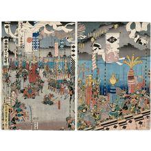 Utagawa Sadahide: Yamamoto Kansuke and Takeda Shingen - Museum of Fine Arts