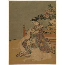Suzuki Harunobu: Young Woman as the Bodhisattva Fugen - Museum of Fine Arts