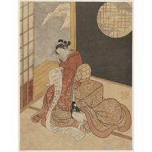 鈴木春信: Couple at a Kotatsu Reading a Letter - ボストン美術館