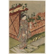 Suzuki Harunobu: Parody of the Yûgao Chapter of the Tale of Genji - Museum of Fine Arts