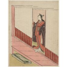 Suzuki Harunobu: Woman Standing in an Open Door - Museum of Fine Arts