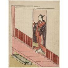 鈴木春信: Woman Standing in an Open Door - ボストン美術館